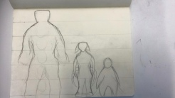 A rough sketch of the character line up.