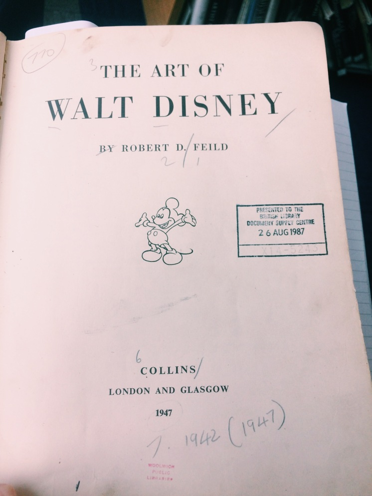 'The Art of Walt Disney' by Robert D Feild.